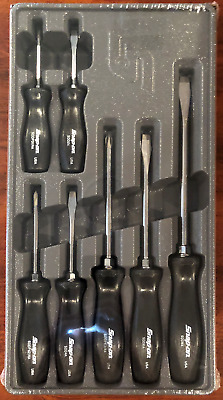 Snap-On SDDX70A 7 pc. Combination Screwdriver Set Black New With Tray