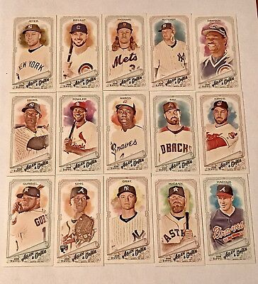 2018 ALLEN & GINTER Lot of 42 A&G BACK MINI CARDS High # SPs Jeter Aaron No Dups
