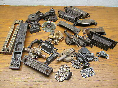 Assorted Lot Of Old Hardware...latches...pulls..catches...