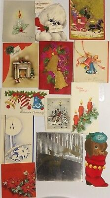 Vintage Mid Century Lot Of 50 Assorted Christmas Cards