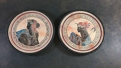 Greek Ancient Ceramic Replica Pottery Plate Set Of Classic Period 500 Bc Greece