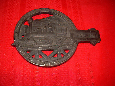 USA Antique ACL RR Railroad Vintage Cast Iron Raised Metal Hot Plate Pot Stand