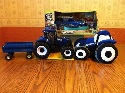 New Holland Tractors, Ertl Metal Wagon and  Ford Pickup