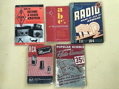 Lot of Vintage Radio and Transistor books/pamphlets (5)