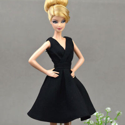 Black Little Dress Doll Dresses Classical Evening Dress Clothes for  Doll