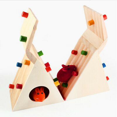 For Hamster Rat Mouse Mice Pet Toy Wooden Seesaw Cage Climbing House 2018 Hot