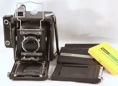 Graflex Speed Graphic 21/4 x 3 1/4 Miniature Camera w/ Optar 101mm  Film Pack Ad