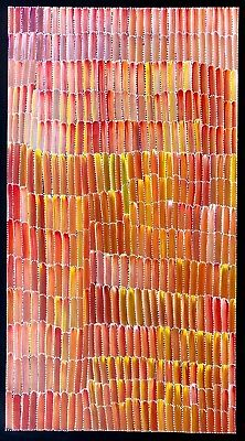 Jeannie Mills Pwerle, Authentic Aboriginal art, Incl, photo's and COA
