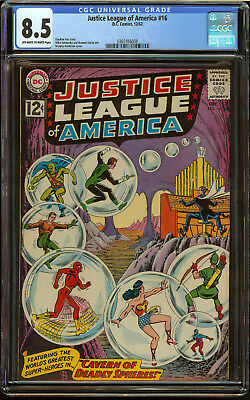 Justice League of America #16 CGC 8.5 OW/W Pgs Nice JLA comic Movie SA Book