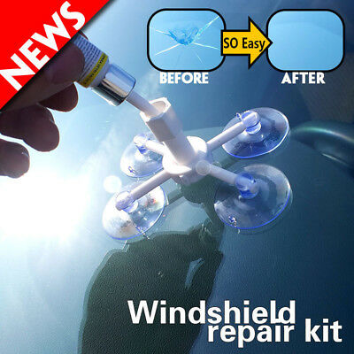 Windshield Cracked Glass Repair Kit DIY Car Window Tool Glass Scratch Fixed Hot