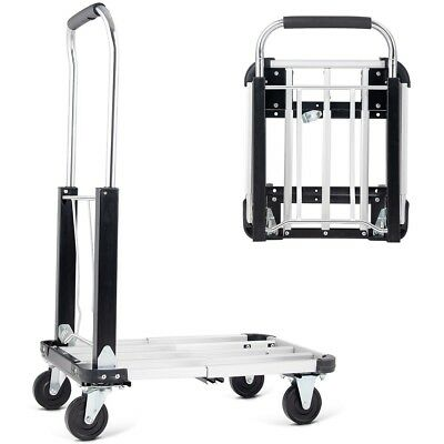 330 Lbs Capacity Folding Adjustable Hand Platform Truck Dolly Aluminum Cart
