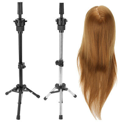 Adjustable Tripod Metal Training Mannequin Head Wig Holder Hairdressing Stand