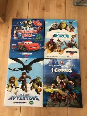 4 Album Completi Esselunga Pam Sigma Disney Pixar Dreamworld Croods