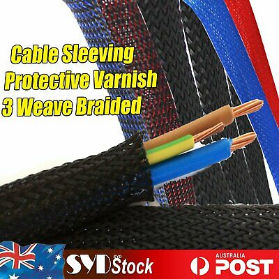 Braided Cable Sleeving Sleeve Nylon Weaves 3mm -50mm Expandable Snakeskin Mesh