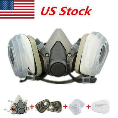 7in1 Filter Half Gas Mask 6200 Painting Spray Dust Protector Respirator Mask