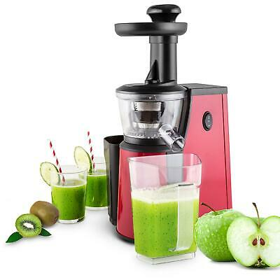 Centrifugeuse A Froid 400W Extraction Lente Jus De Fruit Slow Juicer Inox Rouge