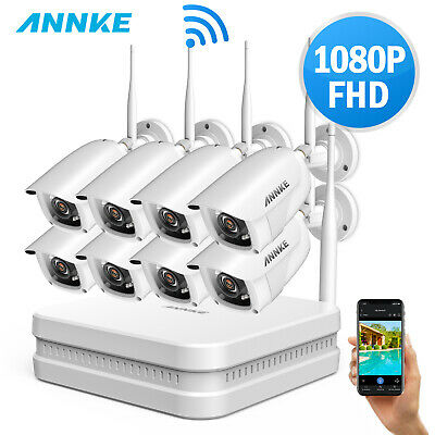ANNKE h.264 Wireless 8CH 1080P NVR 4/8x 2M Outdoor Security IP Camera System 1TB