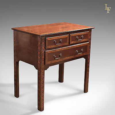 Antique Lowboy, Early Georgian, Mahogany, Table, Side, Lamp, English c.1720