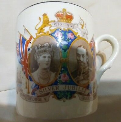 George V and Queen Mary Silver Jubilee Mug 1935