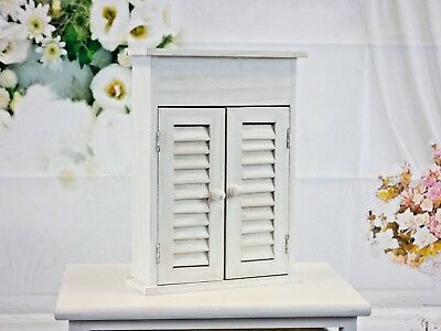 Shabby Chic Key Storage Box Wall Unit Kitchen Cupboard Key Cabinet Rack and Hook