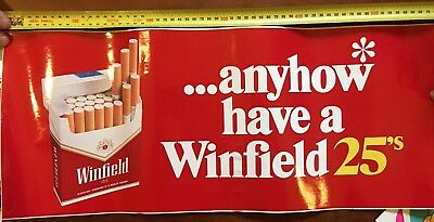 Extra large ...anyhow have a Winfield Winfield Red Sticker Retro 80's