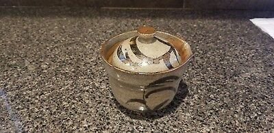 """3.5"""" Stoneware Oriental Ceramic Pourer with Lid Greens"""