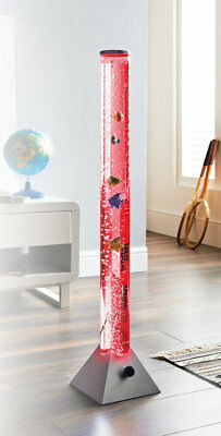 90cm Water Bubble Lamp With Fish Sensory Tower Tube Colour Changing Lamp Lights