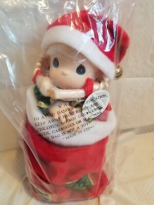 precious moments Christmas eve stocking doll new 16""