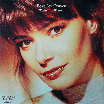 "BEVERLY CRAVEN -  Limited Edition 657464 0 Poster  7""SINGLE ""Woman to Woman"""