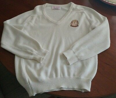 Vintage Lady Pickering Pebble Beach sweater in cream, very nice.