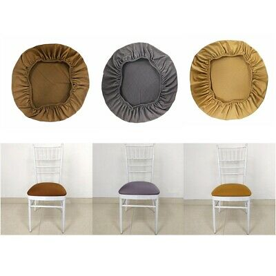 6 Color Removable Stretch Dining Chair Seat Cover Cushion Wedding Venue Decor