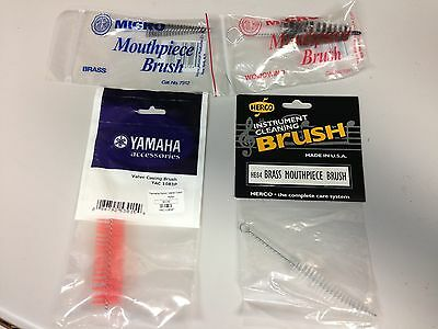 Lot of 4 Various New Cleaning Brushes for Brass or Woodwind Instruments