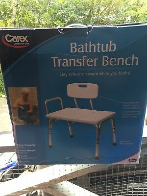 Carex B15300 Bathtub Transfer Bench