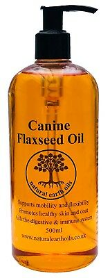 Canine Flaxseed Oil - 500ml - natural earth oils