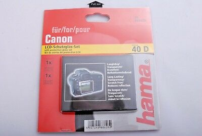 Hama LCD Protective Glass for Canon EOS 40D