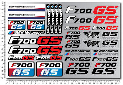 F700GS Adventure motorrad motorcycle quality stickers decal set bmw f700 GS red