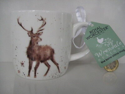 Royal Worcester China Wrendale Designs Wild At Heart Deer  Stag  Tea Coffee Mug