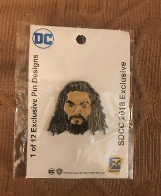 New! SDCC 2018 Swag Bag DC: AQUAMAN PIN Limited Edition COMIC CON EXCLUSIVE 1/12