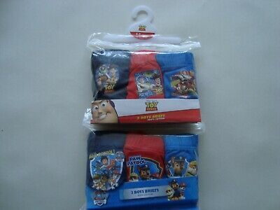 Kids Boys Underwear Pants 4-5 Yrs Thomas The Tank Paw Patrol Toy Story 6 Pairs
