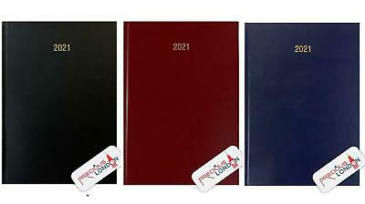 2019 A4/A5 One Day to a Page Diary with Full Page of Saturday & Sunday Hardback