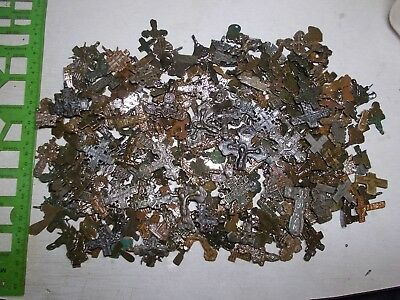 Metal detector finds.Fragments ancient crosses (The age of 12-19) 380 Fragments.