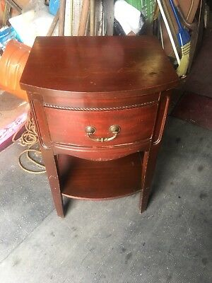 Antique Mahogany Night Stand 1940's For Restoration Or Use As Is