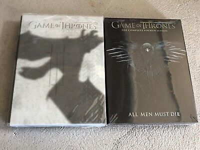 Game of Thrones Season 3 and 4 DVD Bundle Combo Free Shipping!