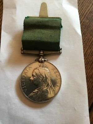 British Silver Victorian Long Service In Volunteer Force Medal W.