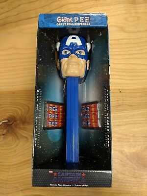 NEW 2011 Marvel Universe CAPTAIN AMERICA Giant Pez 12 inch Candy Roll Dispenser
