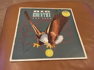 Big Country The Seer Vinyl Signed By Stuart, Mark & Bruce
