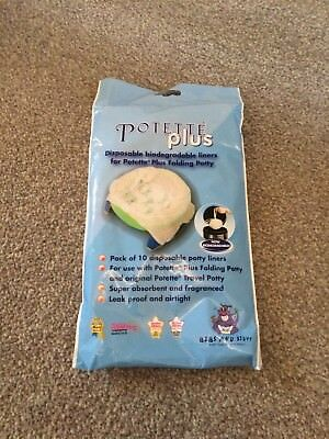 Pottette Plus Disposable Biodegrable Liners - Pack Of 8 - Remainder Of New Pack