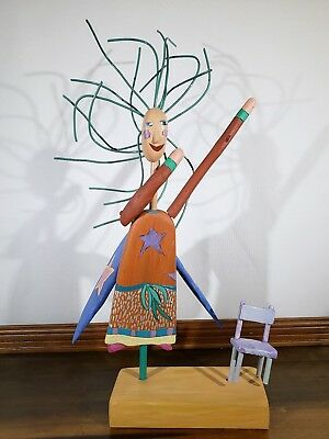 1993 Sarah Grant Sticks Object Art Angel Sculpture Signed SGH & Numbered 02870
