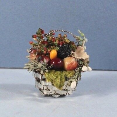 TINY Antique Germany Candy Basket CHRISTMAS Ornament Putz Feather Tree #2
