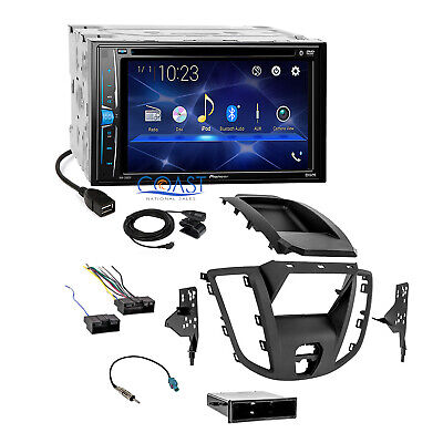 Pioneer 2018 DVD USB Bluetooth Stereo Dash Kit Harness for 15-16 Ford Transit